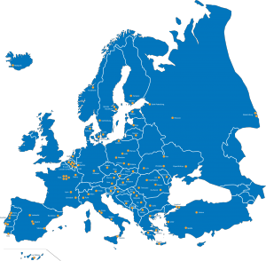 best_blue_map_of_europe_with_townnames